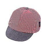 DERCLIVE 1 Stück 0-3 Jahre Alt Baby Kleinkind Jungen Mädchen Sommer Gestreifte Baseballmütze Hut Kinder Mütze Atmungsaktive Mesh Hut