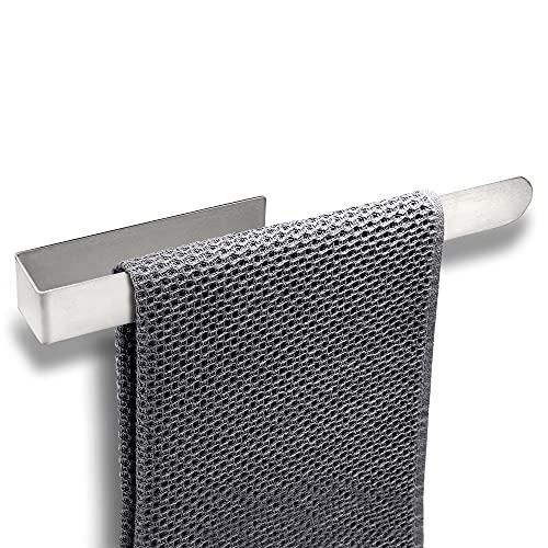 Phino's Dream Home – Premium Handtuchhalter Ohne Bohren – Handtuchstange Selbstklebend – Edler SUS 304 Edelstahl rostfrei – [37cm] – Mit 3M Klebesticker – Für Badezimmer – Silber