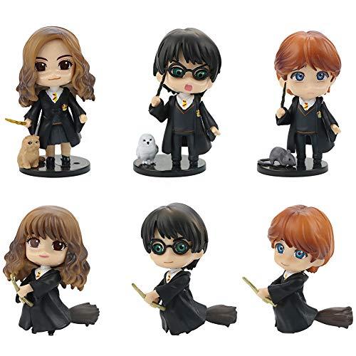 Harry Potter Cake Toppers 6Pcs Professor Hermione Figure Personaggi Figure Harry Decorazione della torta Fatta a Mano Bambola Compleanno Decorazione per Bambini