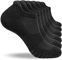 anqier 6 Paar/3 Paar Sneaker Socken Herren 43-46 39-42 35-38 47-50 Baumwolle Sportsocken Damen Gepolsterte Laufsocken...