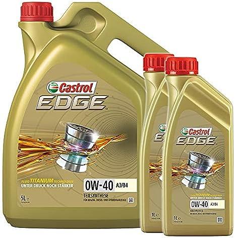 Castrol 10801170 Edge Fluid Titanium 0w 40 A3 B4 7 Litre Engine Oil Auto