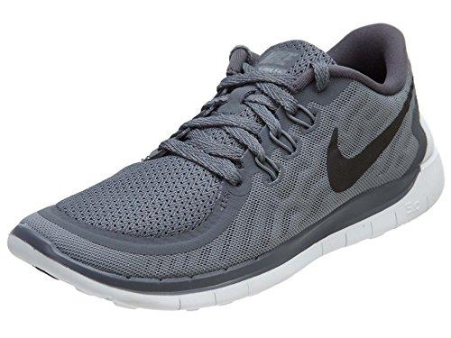 Nike Kids Free 5.0 (GS) Dark Grey/Black/Wlf Gry/Cl Gry Running Shoe 4.5 Kids US