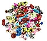 100 g di perline in plastica per bambini, stile antico tibetano, perline di plastica, mix ...