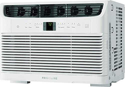 Frigidaire, White Energy Star 5,000 BTU 115V Window-Mounted Mini-Compact Air Conditioner with Full-Function Remote Control (Renewed)