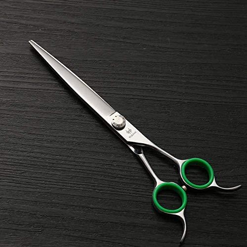 N/ A Ciseaux de Coupe de Cheveux pour Adultes, 7,0 Pouces, Double Face avec cisailles Plates à Queue Plate Ciseaux Droits Professionnels pour Animaux de Compagnie