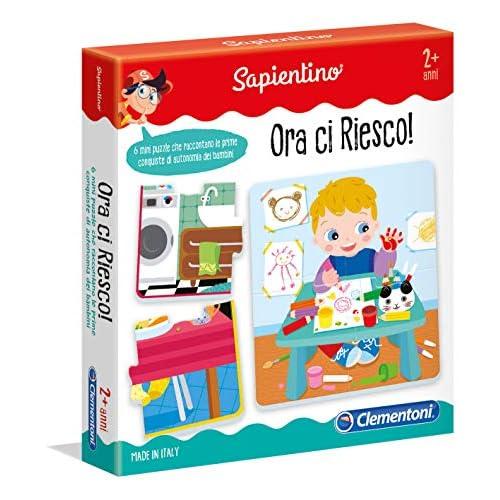 Clementoni - 16078 - Sapientino - Ora Ci Riesco - progressive puzzle, sequenze - tessere a incastro - gioco educativo 2 anni flashcards - Made in Italy