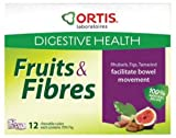 New - Ortis Ortisan Fruit And Fibre Chewable Cubes - 12 Cubes Per Box - Aids Normal Intestinal Transit (1 X 12 Cubes)