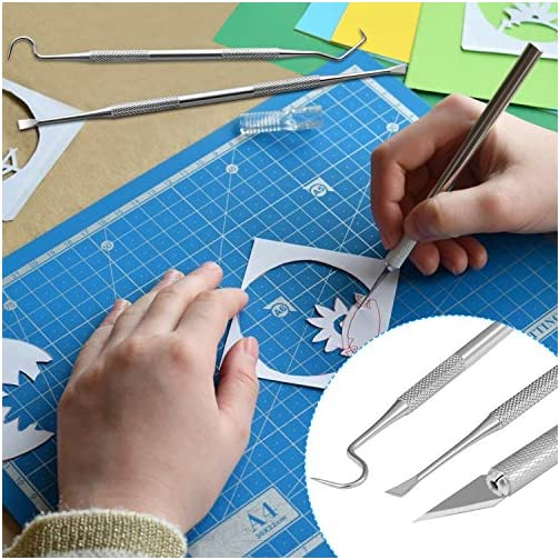 Craft Tools,OUXIBI 18 PCS Vinyl Tool kit,Weeding Kit for Vinyl Including Cutting Tool, Tweezers, Ruler,Weeders for Vinyl… |