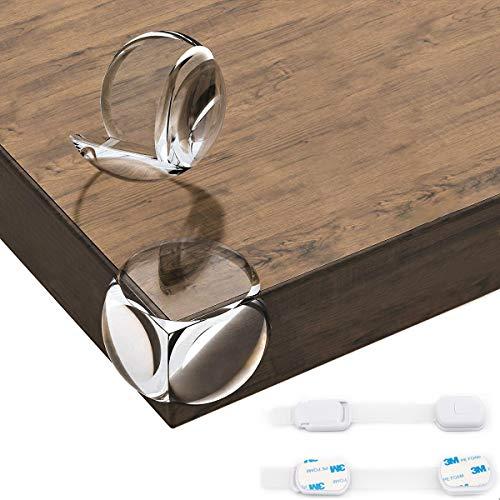 20 Stück Transparente Eckenschutz + 2 Schubladen-Schutz, Kantenschutz für Kinder, weich und stoßfest