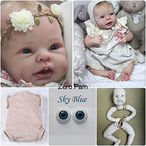 Zero Pam Kits De Accesorios De Muñecas Renacidas En Blanco Suministros Muñecas Renacidas Sin Pintar (extremidades + Ojos + Cuerpo + Cabeza) para Hacer Sus Propias Muñecas Recién Nacidas Renacidas