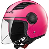 LS2 Casco Moto Of562 Airflow, Gloss Pink Long, Xl