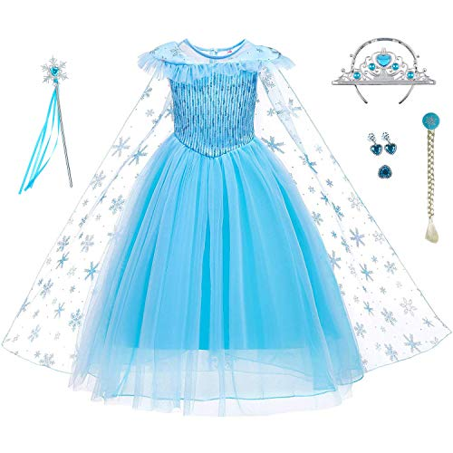 LiUiMiY Disfraz de Princesa Niñas Vestido de Carnaval Fiesta Halloween Cosplay Navidad...