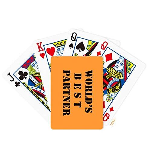 DIYthinker Best Partner Teammate Colleague Poker Playing Card Tabletop Board Game