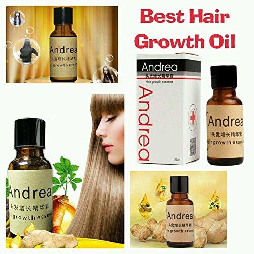 Andrea - Crecepelo, producto contra la alopecia, 20ml, champú de jengibre