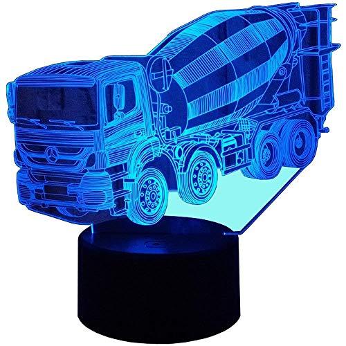 ZHTY 3D Mixer Nachtlicht Lampe 7 Farbwechsel LED Touch USB Tisch Geschenk Kinder Spielzeug Dekor Dekorationen Weihnachten Geburtstagsgeschenk