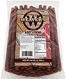 Weavers Beef Sticks (80 original mild flavored 6.5 beef sticks per 40oz bag)