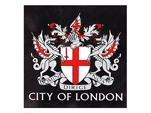 Kunst-discounter Bild Leinwandbilder - Tela Wappen London City of London England A05383 Format 30 x30 cm