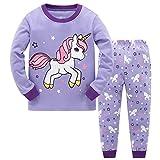 Garsumiss Pijamas para Niña Dos Piezas Pijamas Navideños Manga Larga Invierno Pijama 2-9 Años,Estilo 6,7 Años