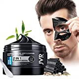 JVR Blackhead Remover Mask for Men,Bamboo Charcoal Peel Off Black Mask,Purifying and Deep