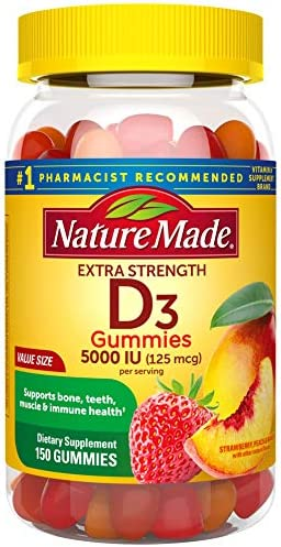 Extra Strength Vitamin D3 5000 IU 125 mcg 150 Gummies High Potency Vitamin D Gummies for Adults product image