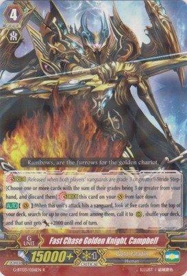 Cardfight!! Vanguard TCG - Fast Chase Golden Knight, Cambell (G-BT03/026EN) - G Booster Set 3: Sovereign Star Dragon