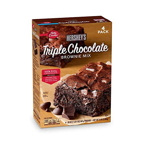 Betty Crocker#039s Hershey#039s Triple Chocolate Brownie Mix 20 oz ea 4 pk