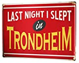 Li6454e Tin Sign City Trondheim Norway Poster for Home