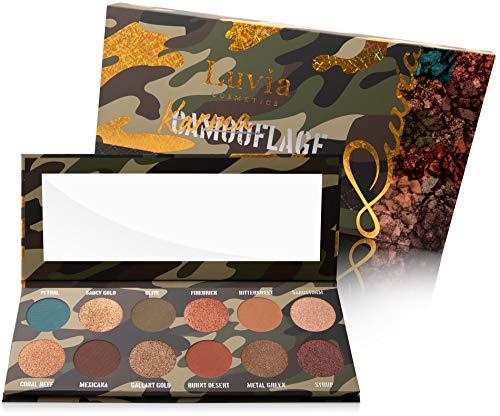 Luvia Lidschatten Palette Glitzer, Schimmer & Matt - Karmaflage Make-Up - Inkl. 12 natürlichen Farben - Limitierte Geschenkbox - Vegane Lidschattenpalette