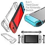 HOUSON Case Cover Schutzhülle für Nintendo Switch , Transparent Case Schutzhülle Stoßdämpfung und Anti-Scratch Passt Nintendo Switch Tasche