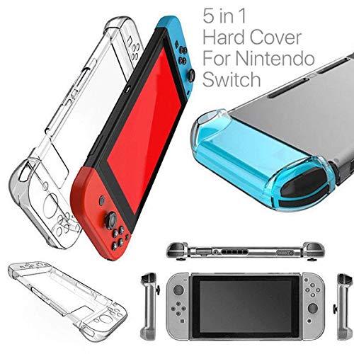 HOUSON Nintendo Switch Case Cover, Transparent Case Schutzhülle Stoßdämpfung und Anti-Scratch Passt Nintendo Switch Tasche für Nintendo Switch Konsole und Controller Hartschale
