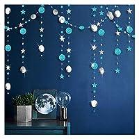 誕生日 風船 4メートルローズゴールドスターキラキラファーストハッピーバースデーデコレーションアダルトキッズベイビーボーイガール1歳パーティーガーランドの装飾 パーティー (Color : Blue silver)