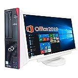 【超大画面22型液晶セット】【Microsoft Office 2019搭載】【Win 10搭載】富士通 D586/第六世代Core i5-6500 3.2GHz/新品メモリー:16GB/新品SSD:512GB/DVDスーパーマルチ/Bluetooth/USB 3.0/HDMI出力/無線機能/新品キーボードマウス/2画面同時出力可能/ほぼ新品中古デスクトップパソコン (SSD:512GB)