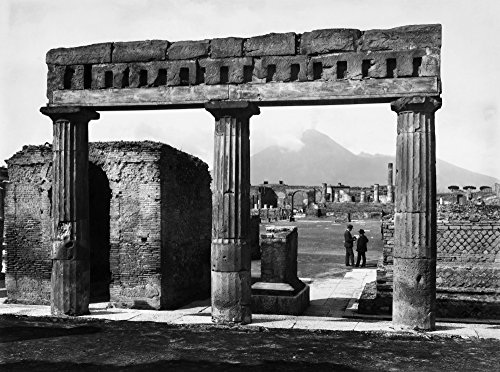 Pompeii Forum C1900 Nview Of The Forum At Pompeii Italy With The Ruins Of A Portico In The Foreground And Mount Vesuvius Seen In The Distance Photographed C1900 Poster Print by (18 x 24)