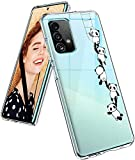 Funda para Samsung Galaxy A72, funda de silicona, transparente, dulce patrón de animales, funda protectora para niñas, suave TPU, funda flexible resistente a los arañazos para Samsung A72 5G/4G