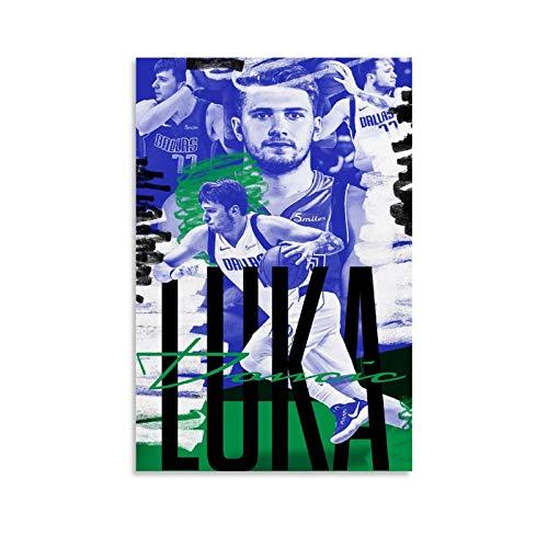 GHRF Luka Doncic Wallpaper NBA - Póster de pared (40 x 60 cm)