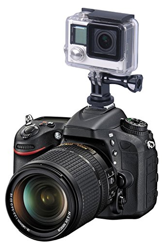 Smatree full aluminum tripod screw to dslr camera flash cold shoe mount adapter compatible for gopro max/9/8/7/6/5/4/3… 3 fully compatible with all versions of gopro cameras. Connect the bottom part of this tripod to the camera hot shoe. (not compatible with cold shoe) convenient to attach your camera to your dslr.