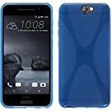 PhoneNatic Case kompatibel mit HTC One A9 - blau Silikon Hülle X-Style + 2 Schutzfolien