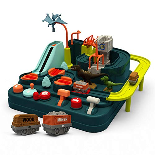 Auto Abenteuer Spielzeug Vorschule Bildung pädagogische Puzzle Schiene Auto Junge Mädchen Auto Abenteuer Spielzeug Stadt Rettungstechnik Fahrzeug Spielzeug Set Kind verfolgen interaktives Spielzeug El