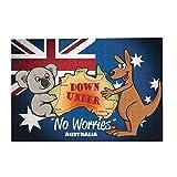 Rompecabezas de 300 piezas de juego de madera con diseño de canguro y bandera de Australia con koala para adultos y niños, decoración del hogar de 15 x 10.2 pulgadas
