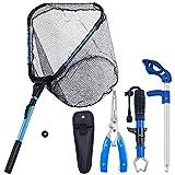 Bombrooster Fishing Tools Kit-Fish Landing Net, Pliers, Gripper, Hook Remover, Kayak Accessoriess丨 Fishermen Gifts