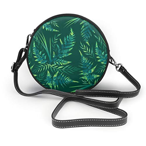 Meiya-Design Farn Leaves Green Faam Umhängetasche/Clutch/Handtasche