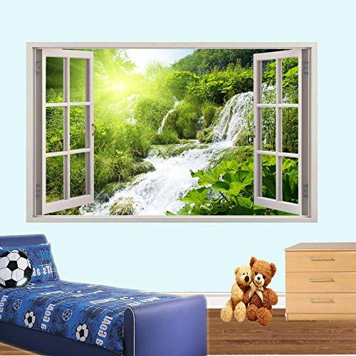 YJYG Wandtattoos WASSERFALL IN 3D WINDOW WALL STICKERS RAUMDECORATION DECAL MURAL Halloween gift-60 x 90 cm