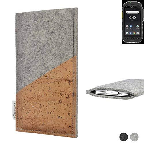flat.design Handy Hülle Evora für Ruggear RG725 Schutz Tasche Kartenfach Kork passgenau handgefertigt fair