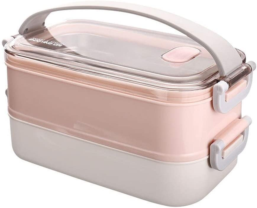 Pink Bento Box Student Bo Portable Lunch Max 65% trend rank OFF Double-layer