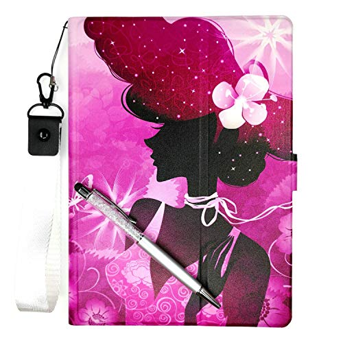 "Lovewlb Tablet Funda para RCA 10.1""Atlas 10 Pro+ Funda Soporte Cuero Case Cover SN"