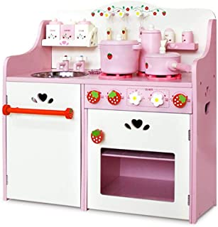 Kids Wooden Kitchen Play Set Children Pretend Toy Cooking Role Play Set Home Cookware 12pcs Set