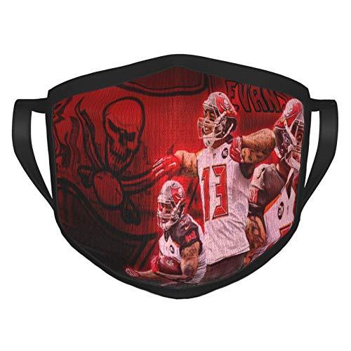 Mike Evans Face Mask Cover Mouth, Dustproof Filter, Unisex Adult, Reusable Mask Black