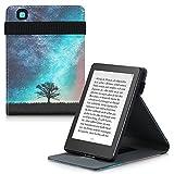 kwmobile Carcasa Compatible con Kobo Aura Edition 2 - Funda para e-Book de Cuero sintético - árbol y Estrellas Azul/Gris/Negro