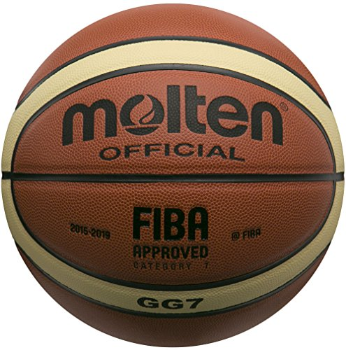 Molten GG7 Basketball (Orange/Yellow, Official/Size 7)