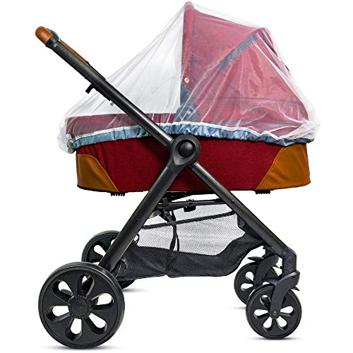 Mosquitera para carrito de bebé, portabebés y moisés - Cordón elástico para ajustada y protección – Mosquitero malla 1000 para niños pequeños